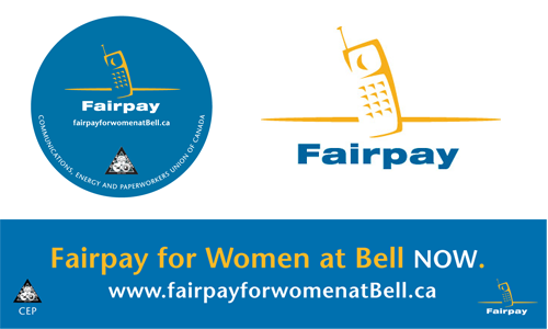 Fair pay campaign branding