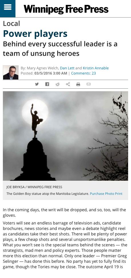 Screen capture of article